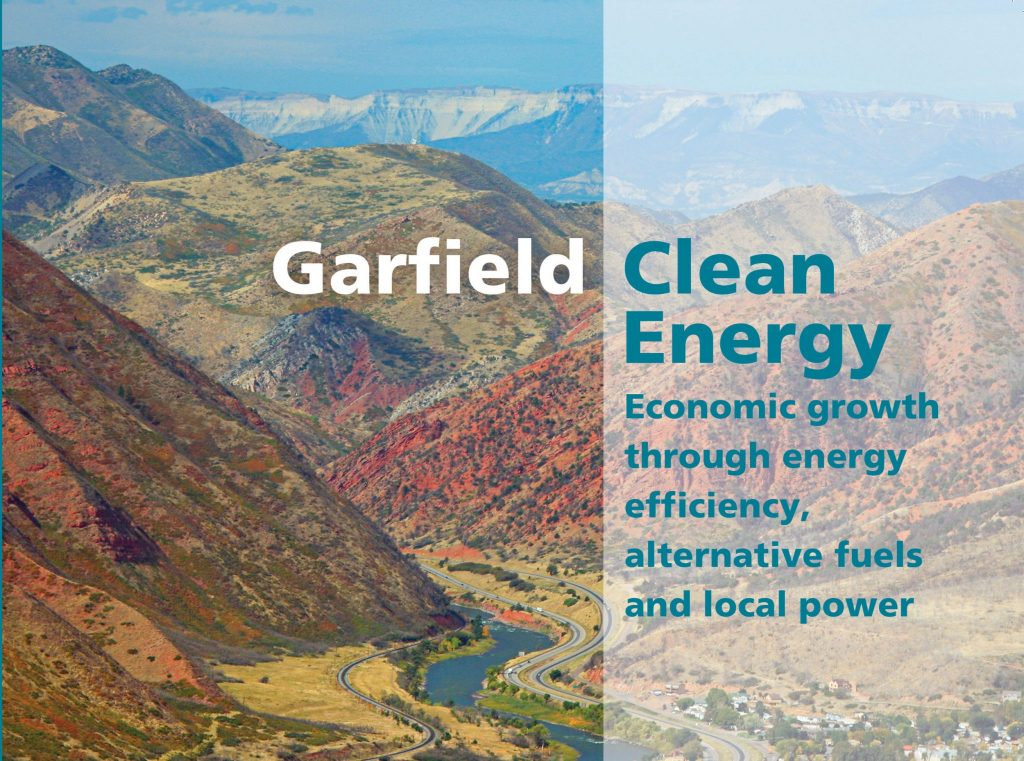 Cover of Garfield Clean Energy 2017 progress report