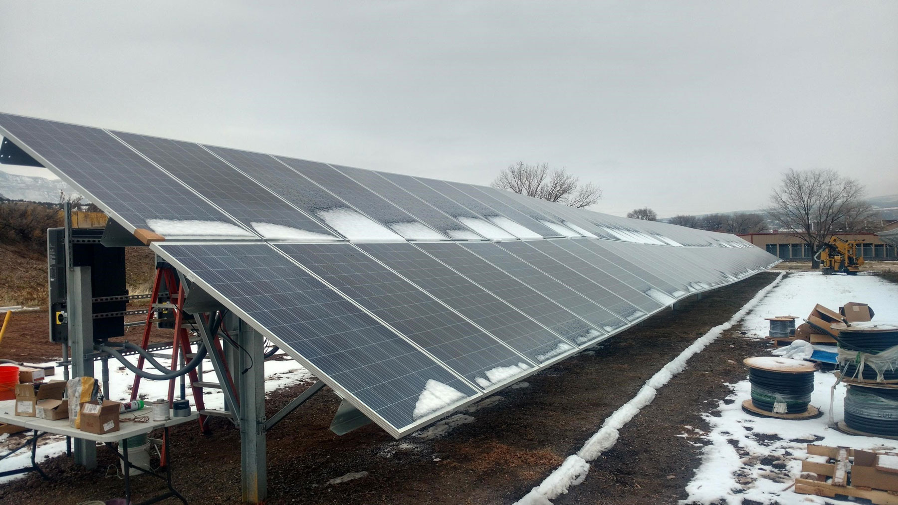 the 100 kW solar array on Garfield County Housing Authority's Valley Senior Housing property in Parachute