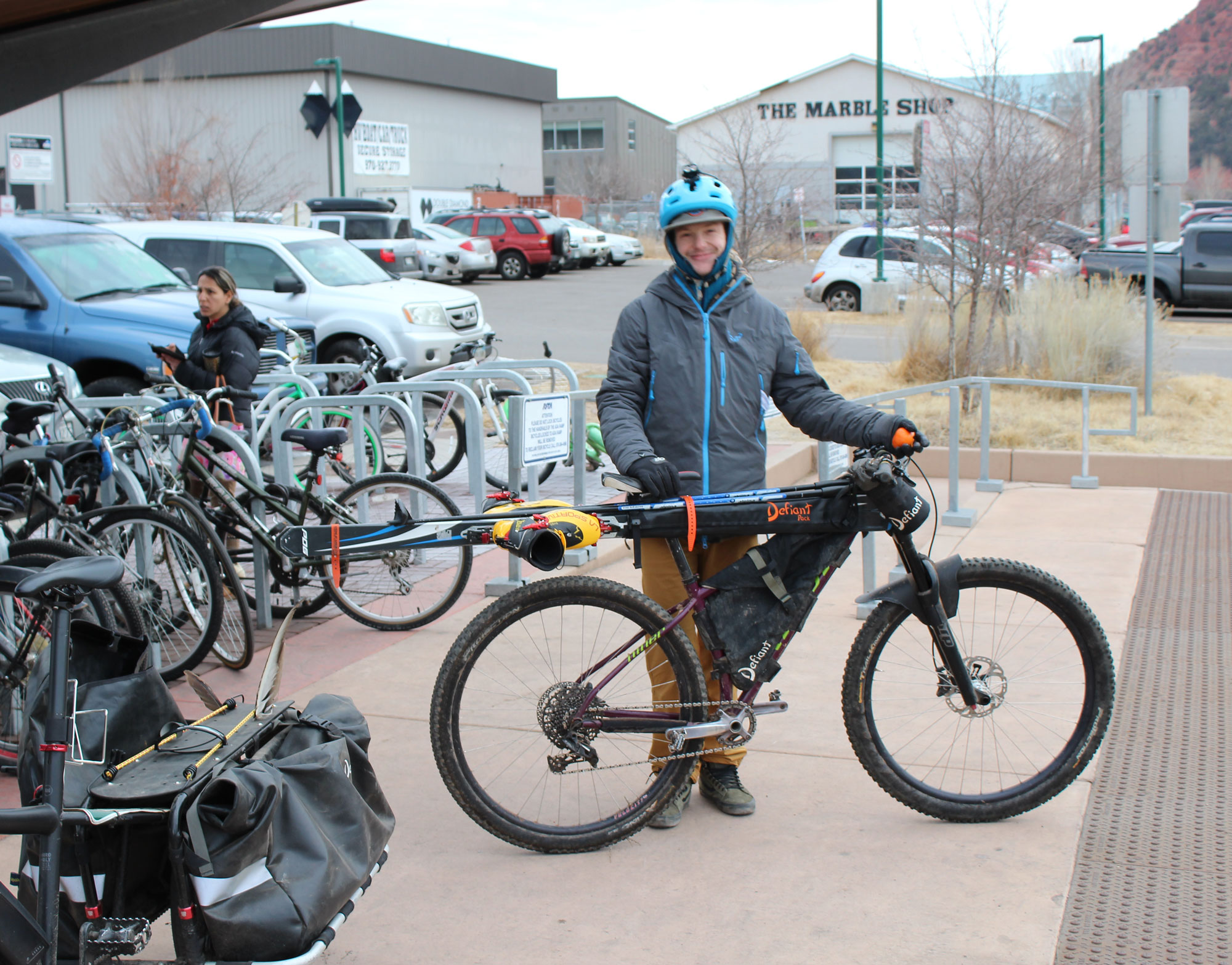 Winter Bike to Work Day, 2018, at the Carbondale BRT Station
